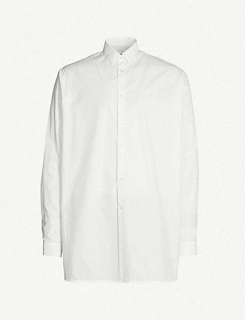 55b4fec9a JIL SANDER Graphic-back oversized cotton shirt