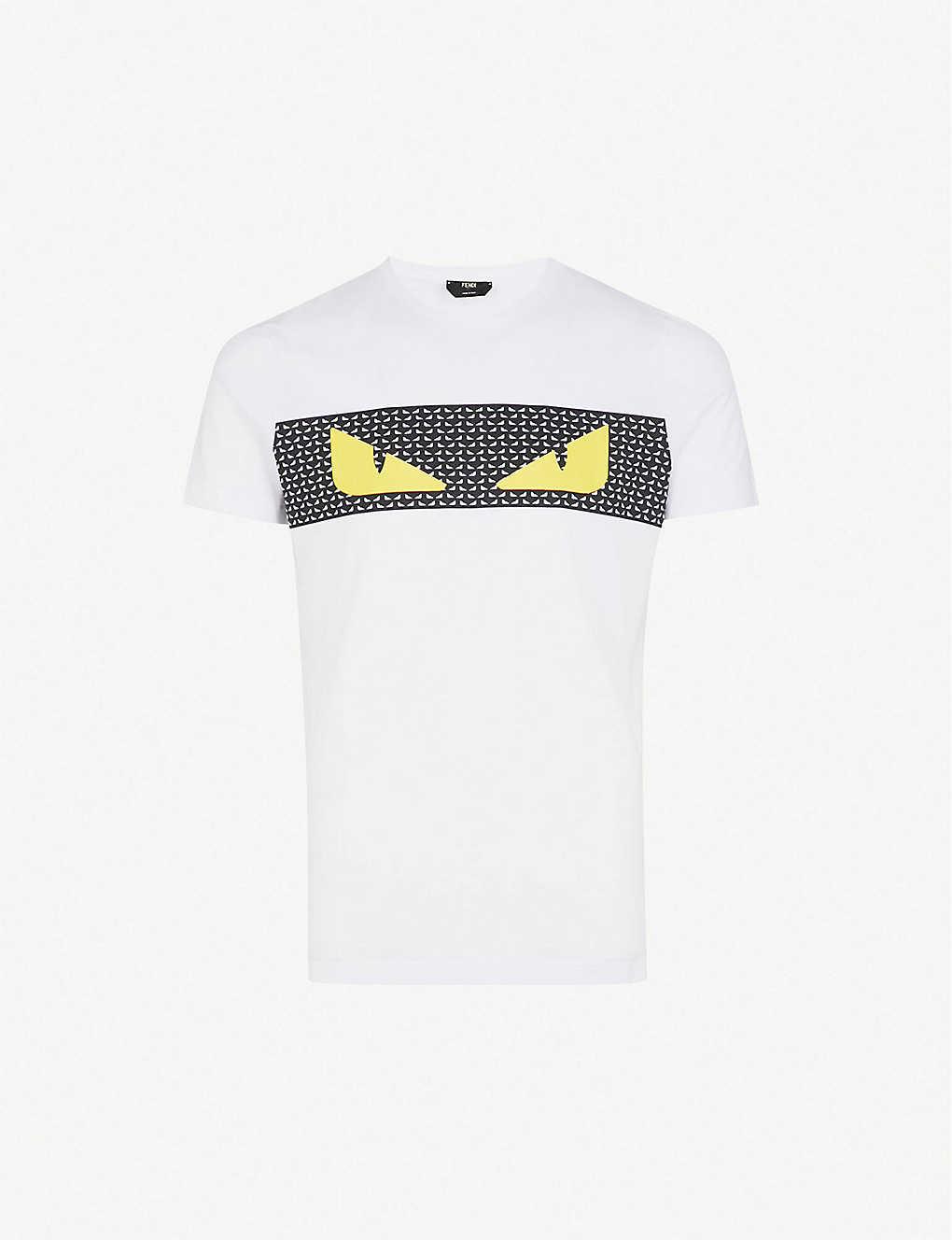 3c22adb2120b FENDI - Monster eyes cotton-jersey T-shirt   Selfridges.com
