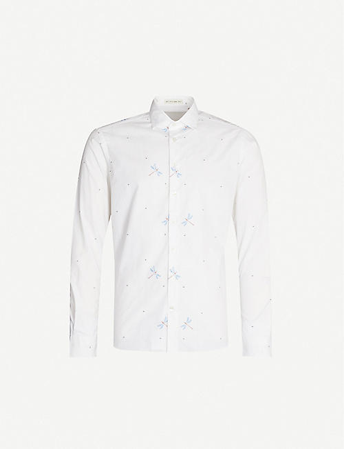 ETRO Dragonfly-jacquard cotton shirt