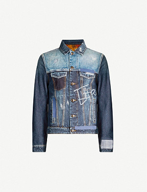 ETRO Distressed slim-fit denim jacket