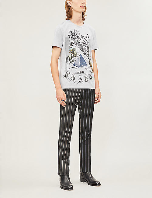 ETRO Graphic-print cotton-jersey T-shirt