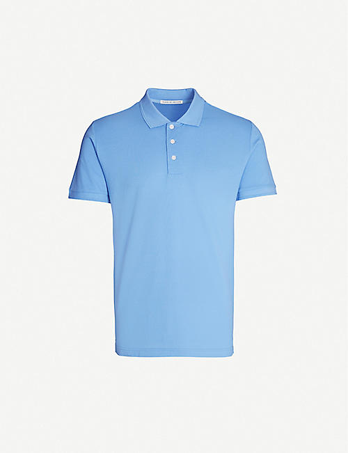 TIGER OF SWEDEN Cotton-piqué polo shirt