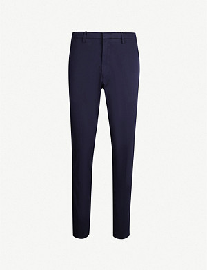 TIGER OF SWEDEN Slim-fit tapered stretch-cotton trousers