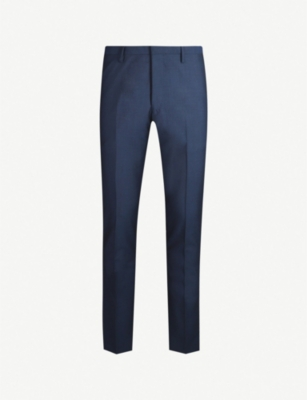 TIGER OF SWEDEN Formal slim-fit wool and mohair-blend trousers