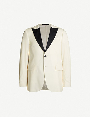 TIGER OF SWEDEN Regular-fit peak-lapel wool and mohair-blend tuxedo jacket