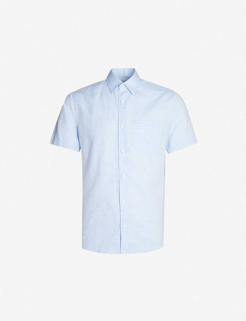 253cc72355e2 TIGER OF SWEDEN - Short-sleeved slim-fit cotton and linen-blend shirt |  Selfridges.com