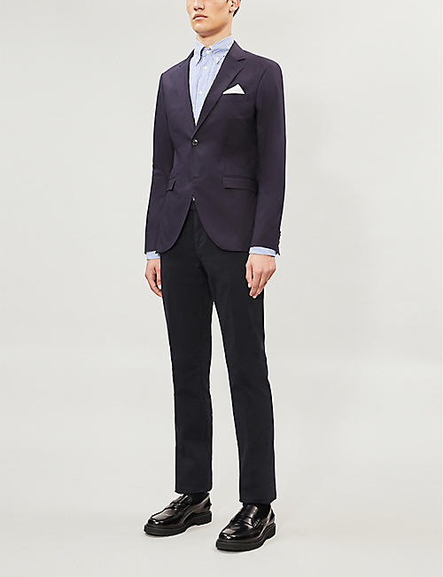 TIGER OF SWEDEN Slim-fit stretch-cotton blazer