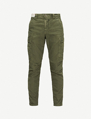 SLOWEAR Slim-fit stretch-cotton trousers