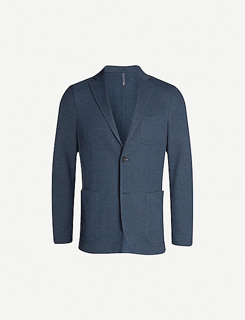 SLOWEAR Herringbone cotton and wool-blend jacket
