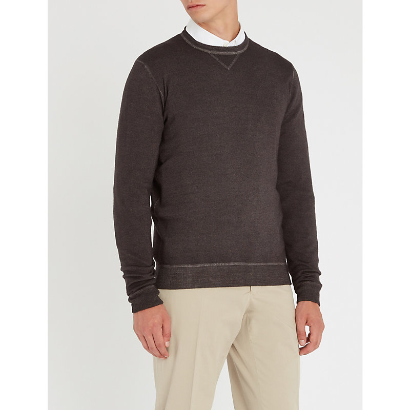 SLOWEAR Dyed Wool Jumper in Charcoal