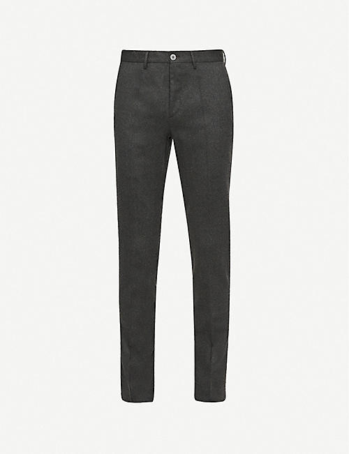 SLOWEAR Slim-fit wool-blend trousers