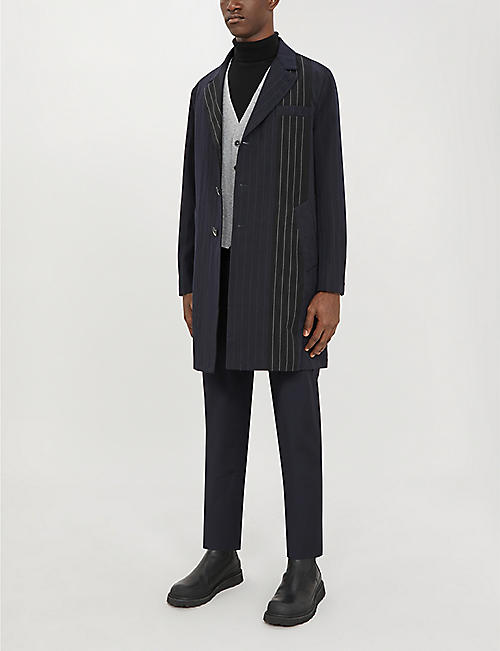 BARENA VENEZIA Pinstriped wool-blend coat