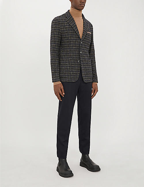 BARENA VENEZIA Checked regular-fit stretch-woven blazer