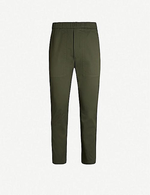 BARENA VENEZIA Trabaco cropped mid-rise tapered stretch-cotton trousers