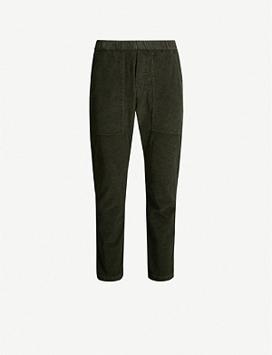 BARENA VENEZIA Trabaco cropped mid-rise tapered corduroy trousers