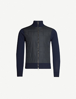 BELSTAFF Quilted wool and shell jacket