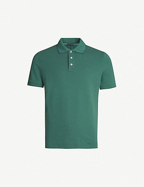 JACOB COHEN Collar tip stretch-cotton polo shirt