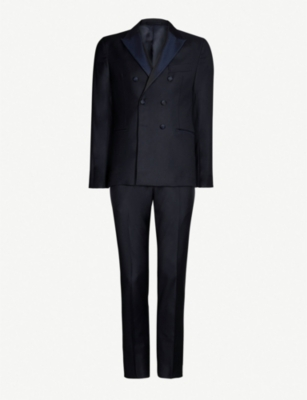 ELEVENTY Double-breasted regular-fit wool suit