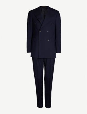 OSCAR JACOBSON Gustav regular fit double-breasted wool suit