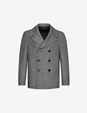 CROMBIE Double-breasted wool-blend coat
