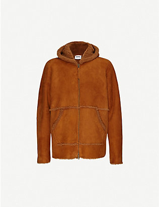 ASPESI: Hooded zip-up shearing jacket