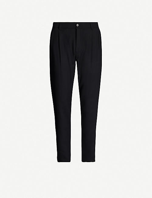 ASPESI Tapered cotton-twill trousers