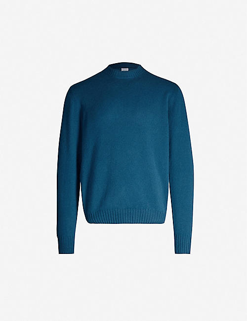 ASPESI Rib-trimmed relaxed-fit wool jumper