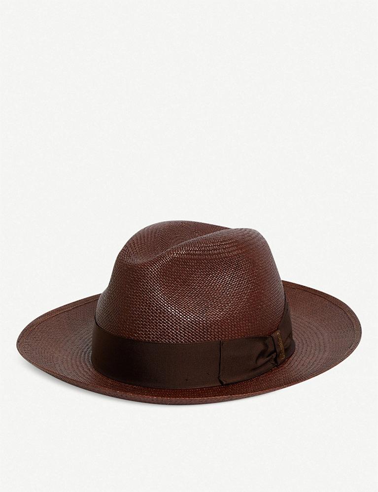 ff0d51a1cc486 BORSALINO - Wide-brimmed Quito Panama straw hat | Selfridges.com