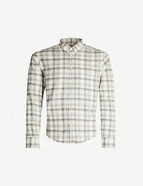 BILLY REID Kirby tartan cotton-and-wool-blend shirt