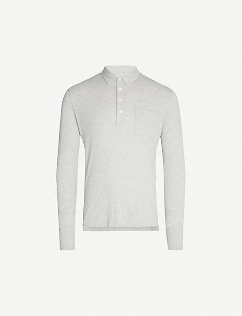 BILLY REID Pima cotton and cashmere-blend polo shirt