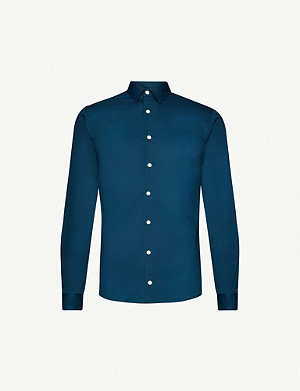 TIGER OF SWEDEN Filbrodie extra slim-fit cotton-blend shirt
