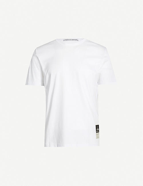 TIGER OF SWEDEN Patch-embroidered cotton-jersey T-shirt