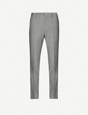 TIGER OF SWEDEN Tordon Prince of Wales check pattern slim-fit wool trousers