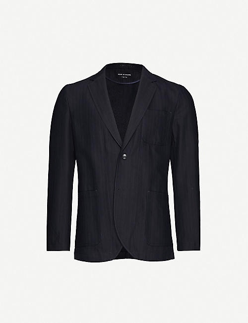 TIGER OF SWEDEN Striped slim-fit cotton blazer