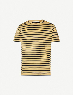TIGER OF SWEDEN Striped cotton-jersey T-shirt