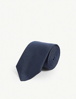 TIGER OF SWEDEN Mini dot silk tie