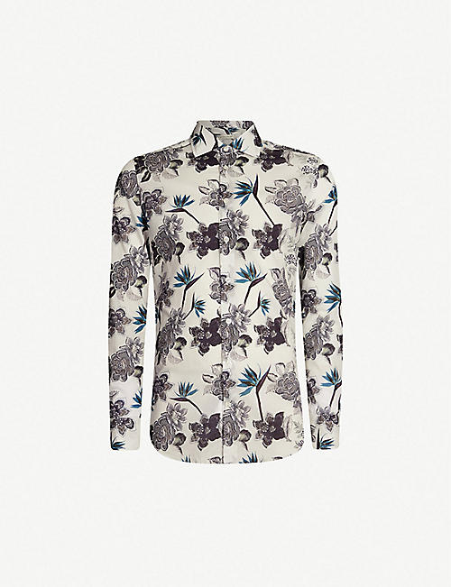 6ad5eef59a0cc ETRO Floral-print tailored-fit cotton-poplin shirt
