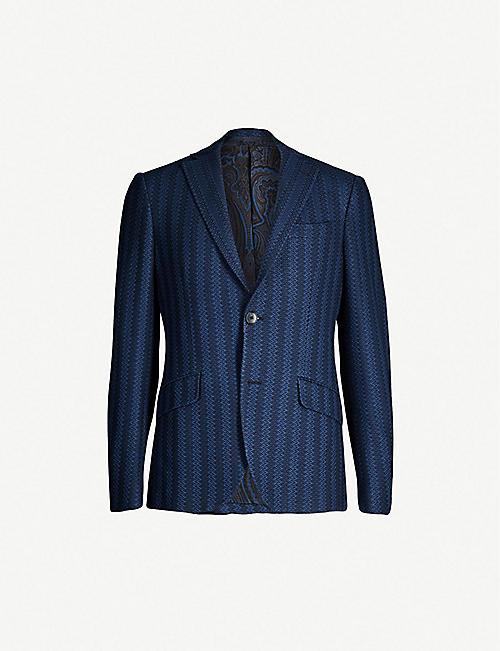 fc36ba6a091f9 ETRO Striped cotton and silk-lined jacquard blazer