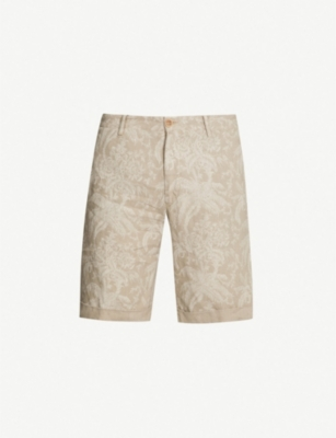 ETRO Paisley regular-fit straight linen shorts