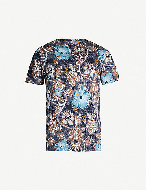 d5d0acd86 ETRO Hawaiian-print cotton-jersey T-shirt