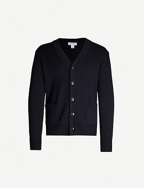 SUNSPEL V-neck merino wool-knit cardigan