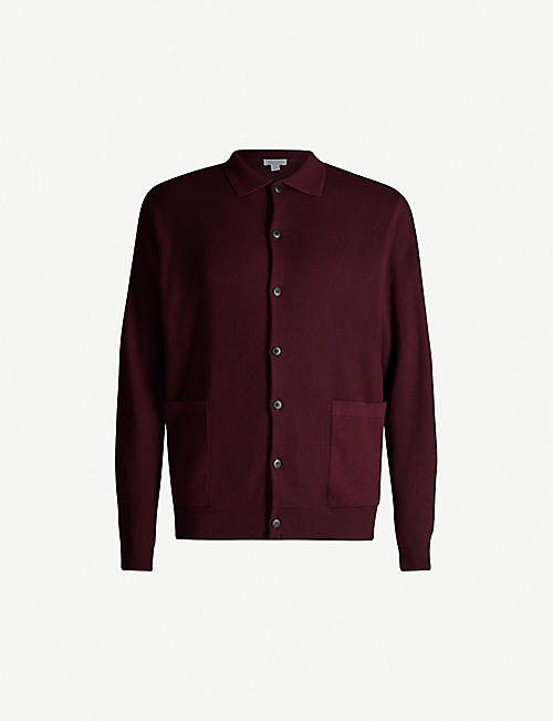 SUNSPEL Button-up cotton cardigan