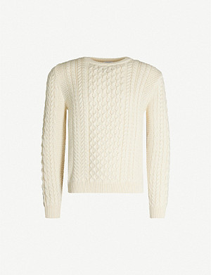 SUNSPEL Cable-knit wool jumper