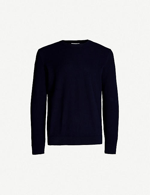 SUNSPEL Relaxed-fit crewneck cotton-knit jumper