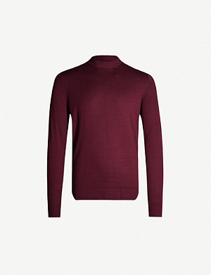 SUNSPEL Mock-neck classic-fit wool-knit jumper