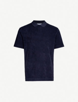 SUNSPEL Slim-fit cotton-towelling polo shirt