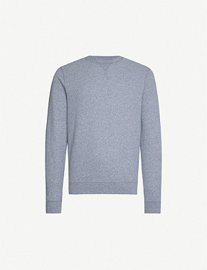 SUNSPEL Crewneck cotton-jersey sweatshirt