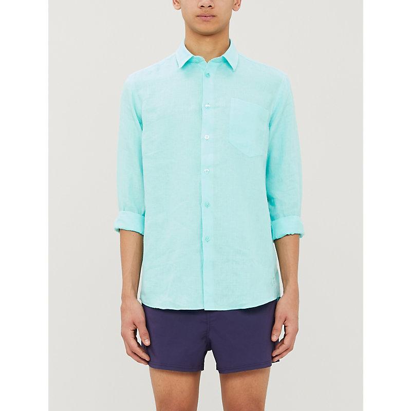 Vilebrequin T-shirts CAROUBIS REGULAR-FIT LINEN SHIRT