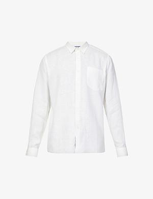 99ca90c19b9f VILEBREQUIN - Caroubis regular-fit linen shirt | Selfridges.com