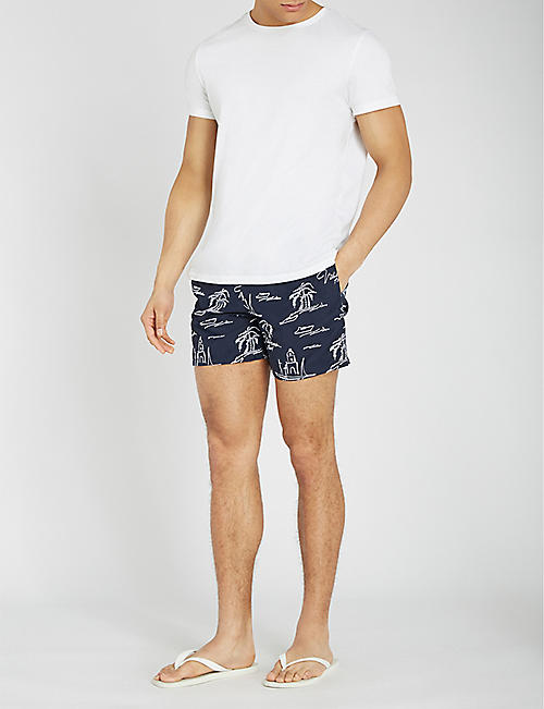 VILEBREQUIN Mistrel relaxed-fit embroidered swim shorts